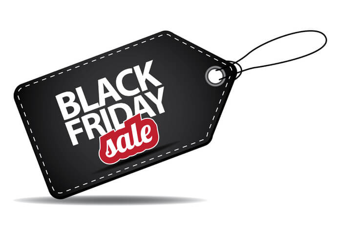 Schwarzes Black-Friday-sale Schild