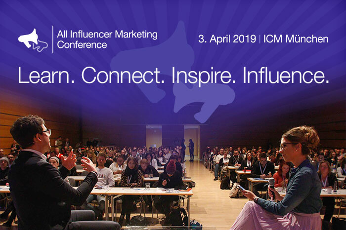 Speaker auf der All Influencer Marketing Conference