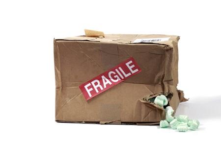 Pakete kamen teilweise beschädigt an.