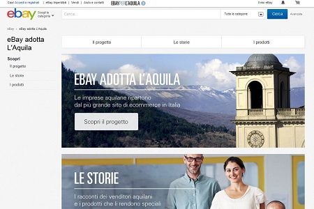 Ebay Adotta L Aquila Ebays Local Commerce Plattform Wird Italienisch