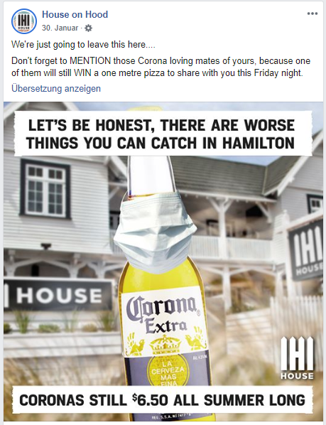corona bier lustig