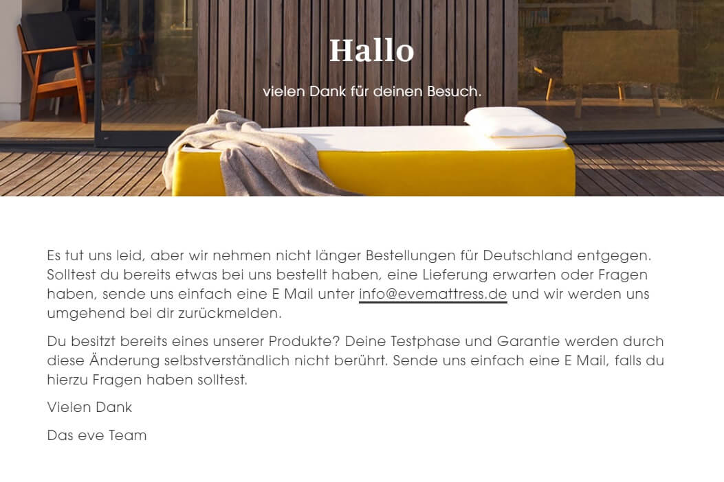 Screenshot Eve Website Deutschland