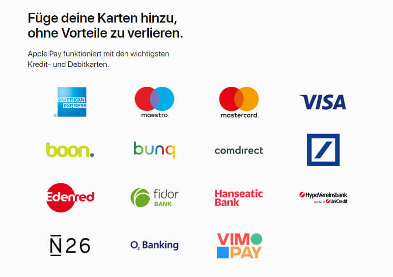 Screenshot Website: Apple Pay