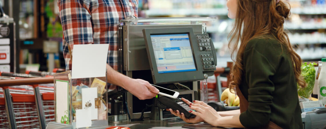 Mobile Payment an Supermarktkasse