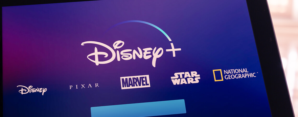 Disney+ auf Tablet