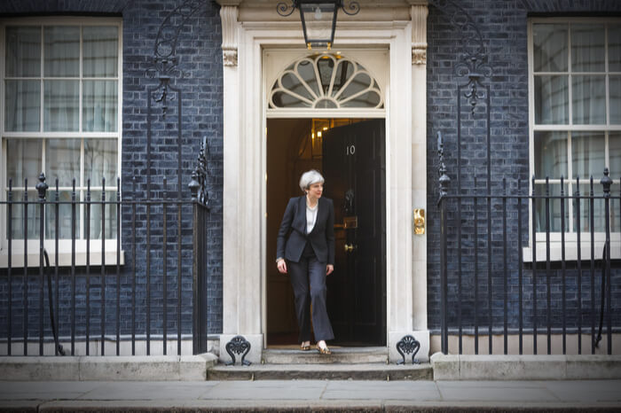 Theresa May verlässt 10 Downing Street