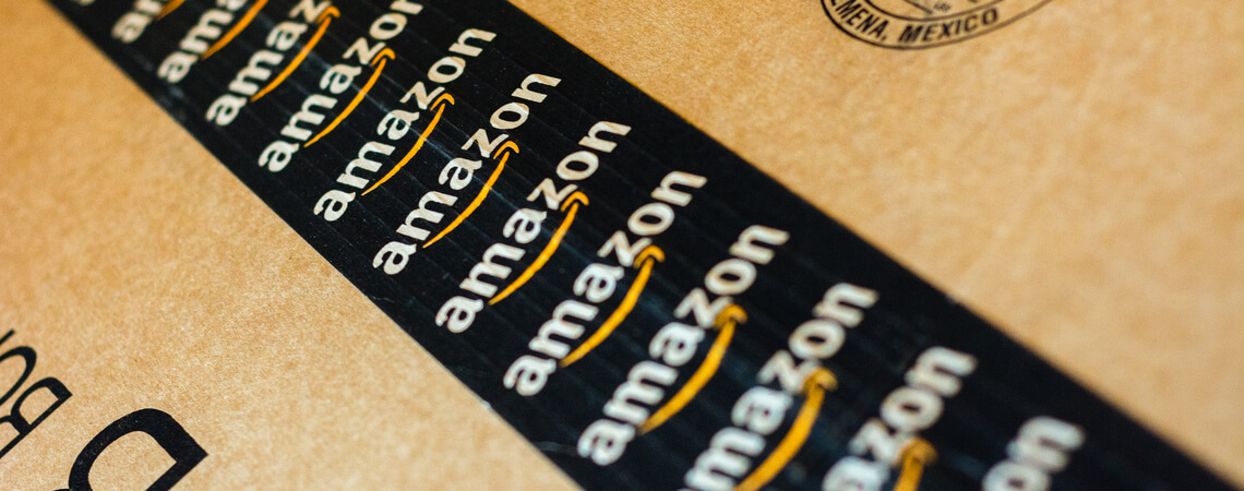 Amazon Packband auf Paket