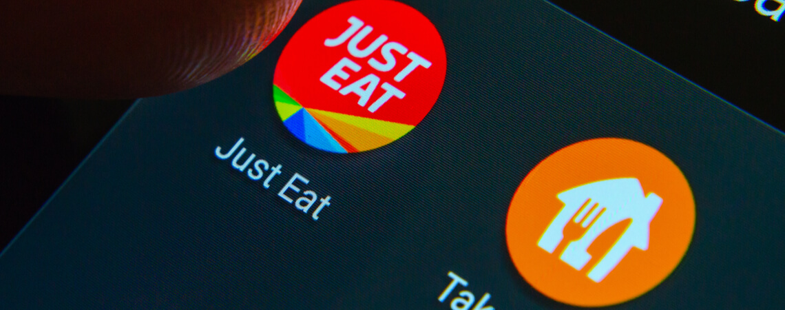 Just Eat und Takeaway Logos
