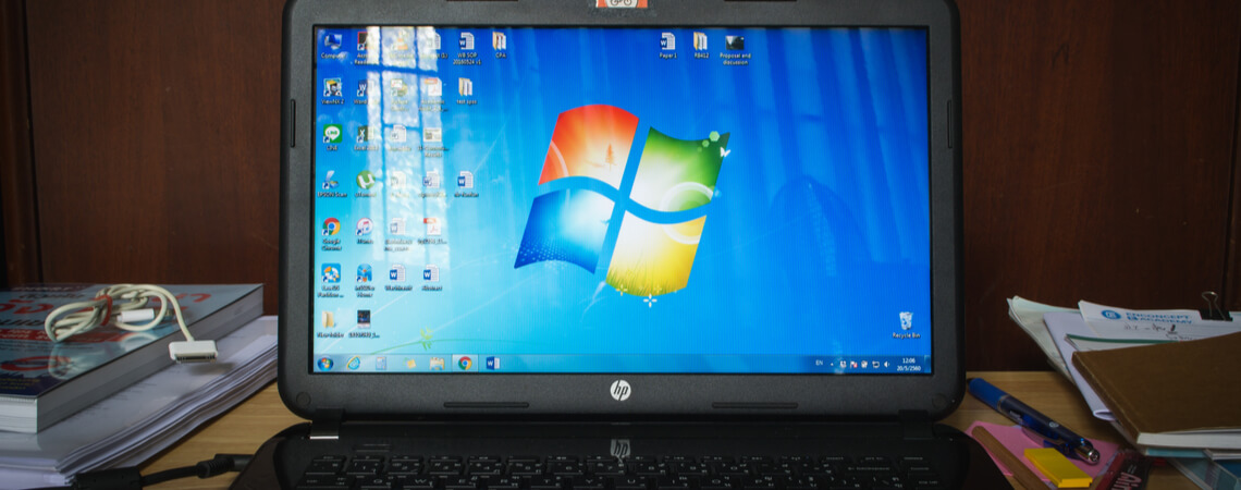 Laptop mit Windows 7