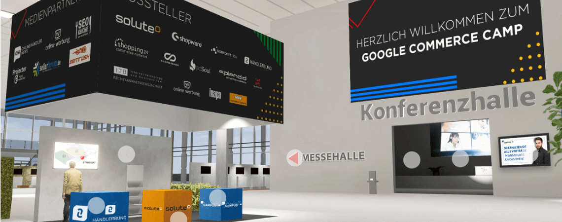 Foyer bei Digitalkonferenz Google Commerce Camp