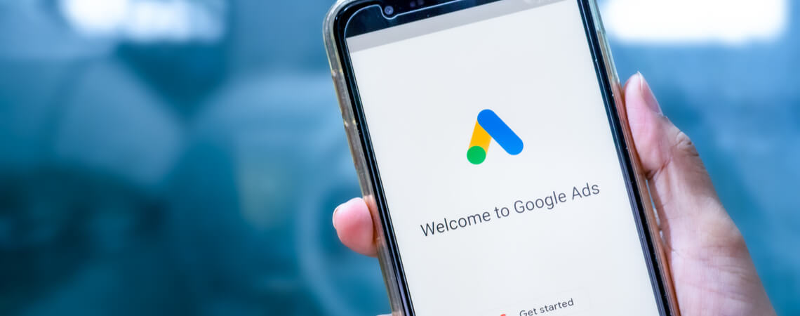 Smartphone Welcome to Google Ads