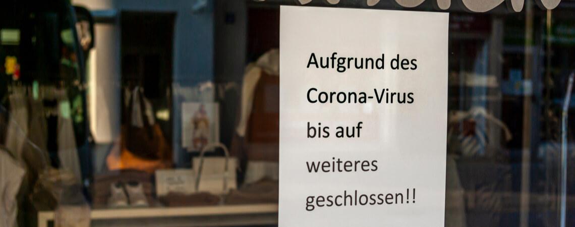 Wegen Corona geschlossener Laden