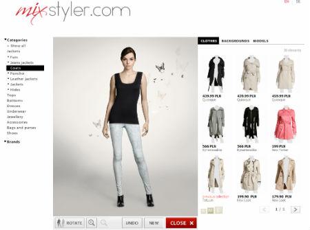 Virtuelle Anprobe Kleidung