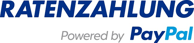 Ratenzahlung Powered by Paypal-Logo
