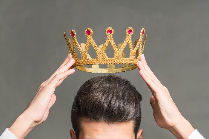 Krone auf Kopf