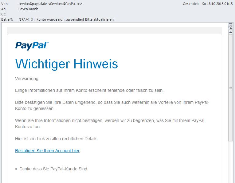 paypal weiterempfehlen